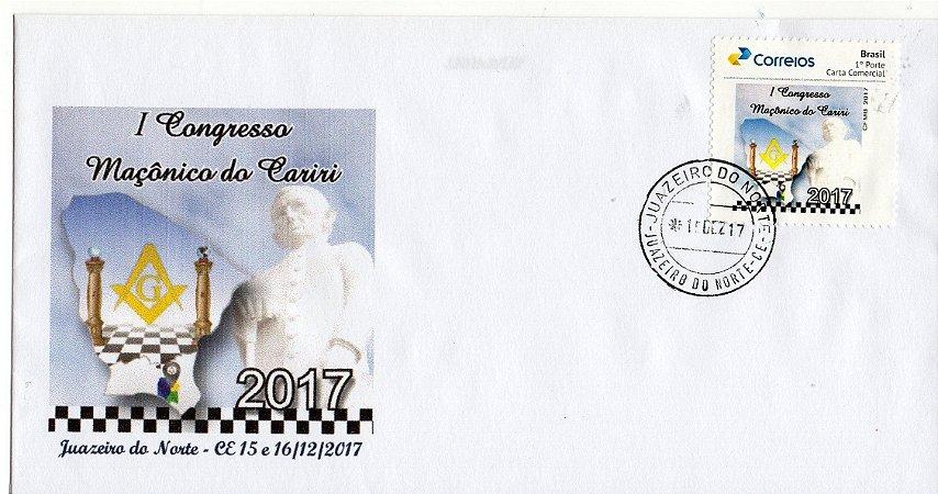 2017 I Congresso Maçônico da Região do Cariri Envelope SP