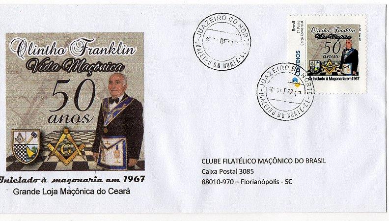 2017 50 anos de Vida Maçônica do Dr Olintho Franklin Envelope