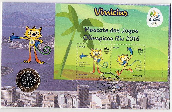 FDC-M (não oficial) Mascote Olímpico Rio 2016