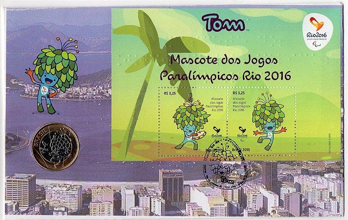 FDC-M (não oficial) Tom Mascote Paralímpico Rio 2016