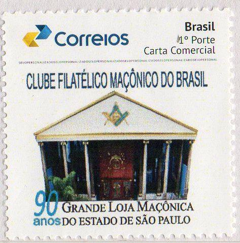 2017 90 Anos da Grande Loja Maçônica do Estado de São Paulo, SP  (mint) Fachada