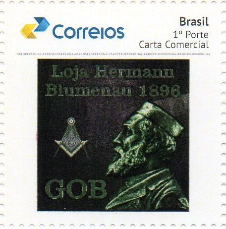 2018 Homenagem à Loja Maçônica Hermann Blumenau GOB 1896