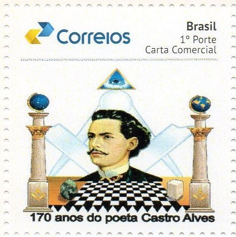 2017 170 anos do poeta e maçom Castro Alves SP (mint)
