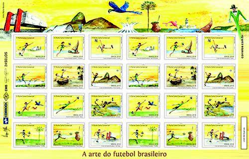 2014 - Selo A Arte Do Futebol Brasileiro - Folha