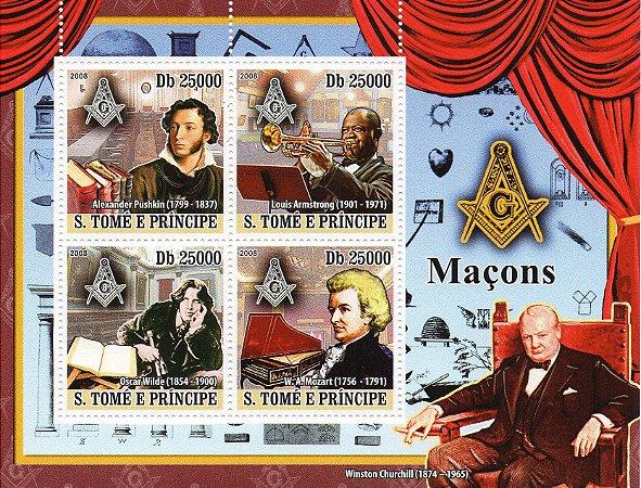 2008 São Tomé e Príncipe Maçons famosos