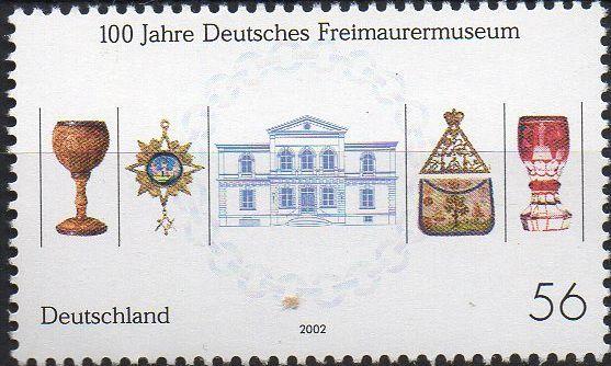 2002 Alemanha Museu Maçônico (mint)