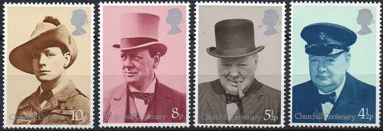 Inglaterra Centenário de W Churchill (Série mint)