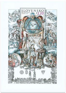 2013 Eslováquia 400 anos do Sínodo - Bloco com figura Selo de Salomão