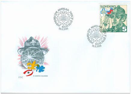 1995 Eslováquia FDC 18 Jamboree