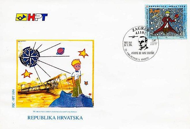 1994 Croácia 50 anos da Obra Pequeno Príncipe de A. Exupery