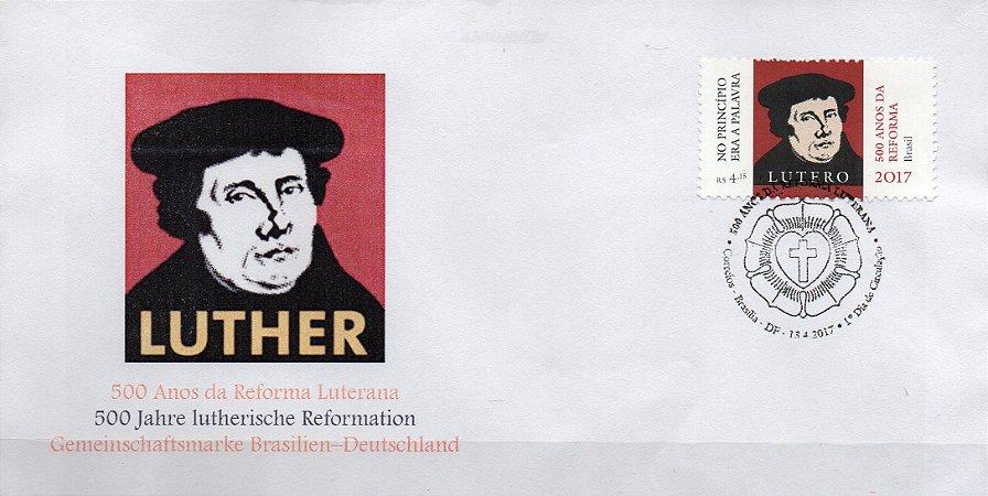 2017 FDC (não oficial)  500 anos da Reforma Protestante - Lutero
