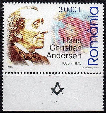 2005 Romênia 200 anos do Maçom Hans Christian Andersen