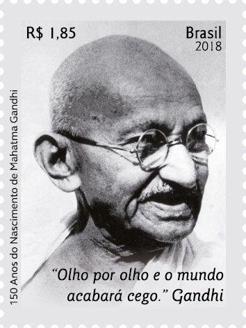 2018 150 anos de Gandhi (mint)