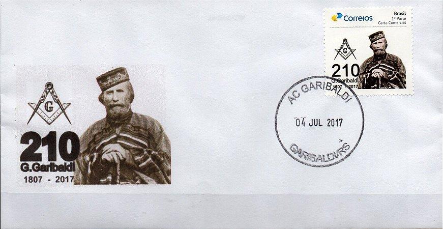 2017 Envelope personalizado 210 anos de G. Garibaldi