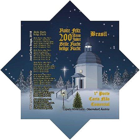 2018 Natal - Capela  200 anos da Canção Noite Feliz - selo autoadesivo mint