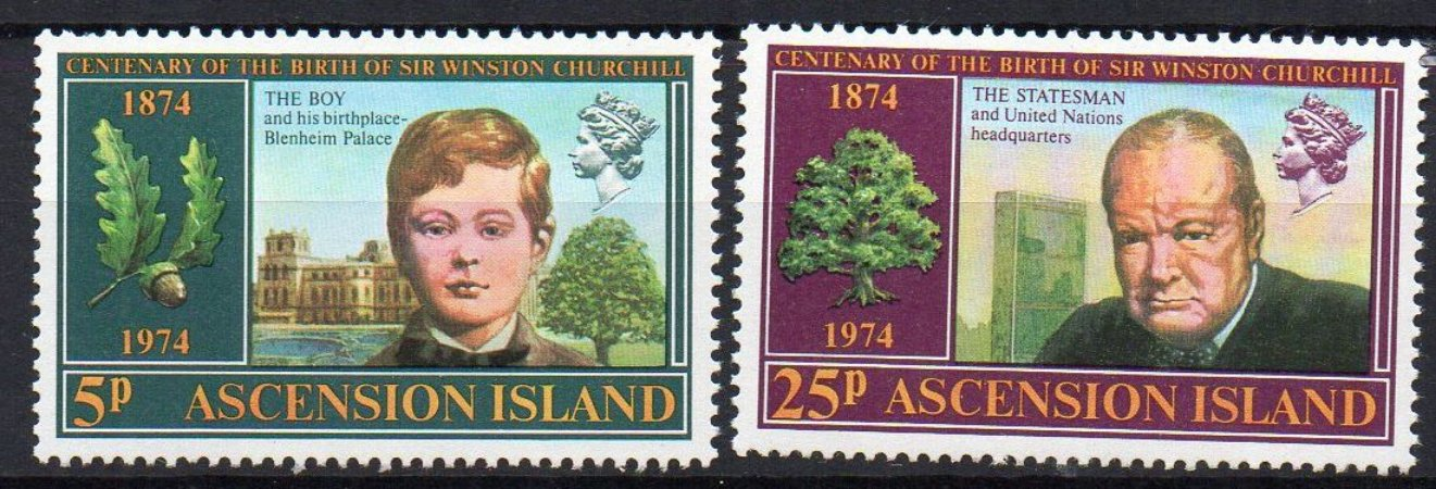 1974 Ilha de Ascensão Winston Churchill série mint