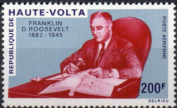 República de Alto Volta - série F. Delano Roosevelt