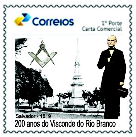 2019 200 anos do Visconde do Rio Branco - Salvador 1819 - SP