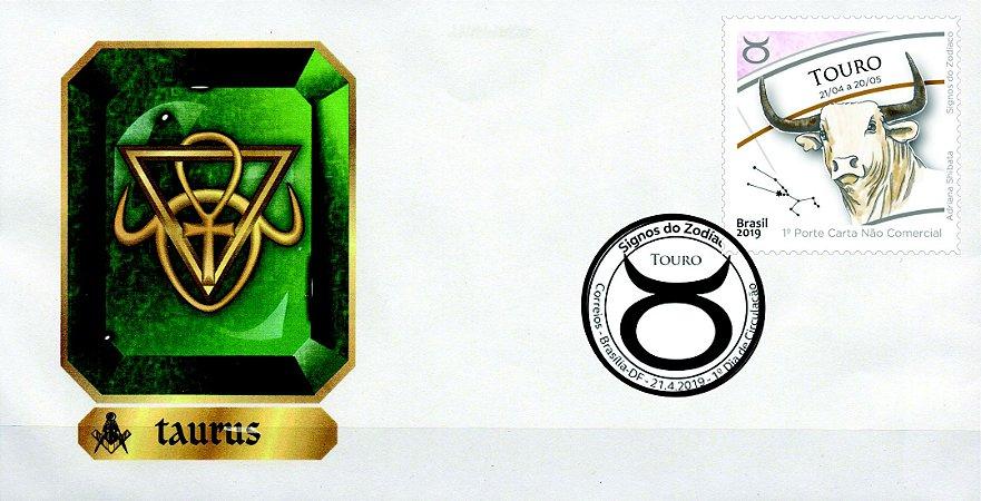 2019 Touro FDC Série Signos do Zodíaco