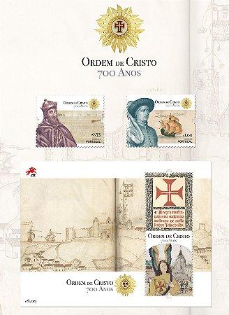 2019 700 anos da Ordem de Cristo - série com dois selos e um lindo Bloco