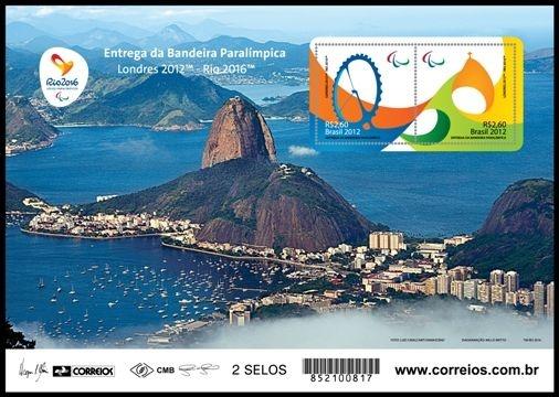 2012/2015 Série Entrega da Bandeira Paralímpica  Mini-folha  (mint)