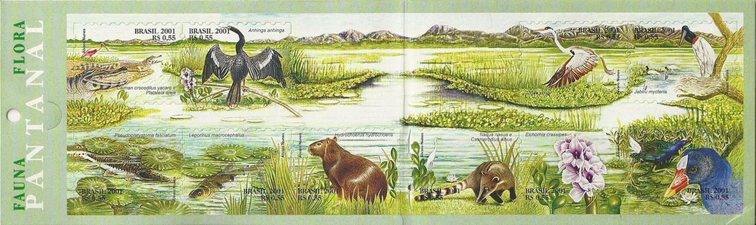 2001 Série Fauna e Flora de Pantanal (auto-adesivo) Mint