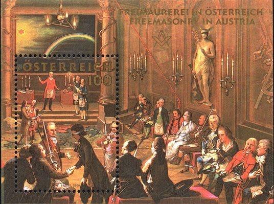 2006 Bloco Maçonaria austríaca - Mozart - Usado com carimbo