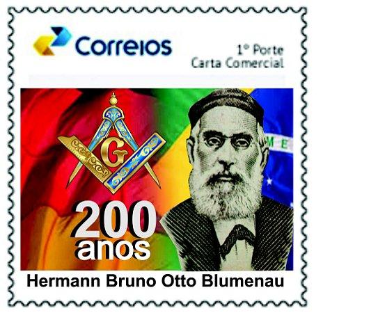 200 anos de Hermann Bruno Otto Blumenau - bandeiras