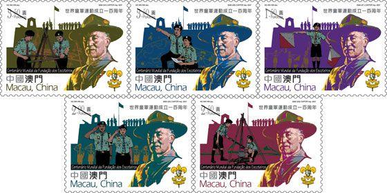 2007 Macau, China 100 anos da Fundação dos escoteiros - linda série (MINT)