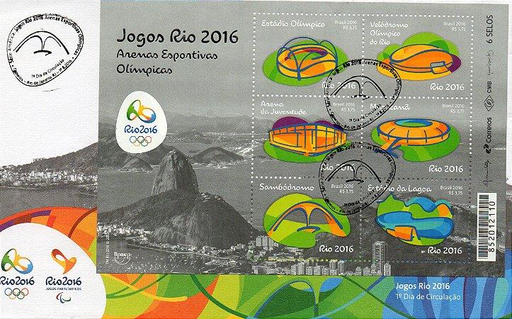 2016 Rio 2016 Jogos Olímpicos FDC Arenas