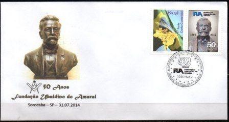 2014 Envelope Personalizado 50 anos da Fundação Ubaldino do Amaral