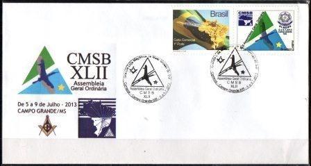 2013 Envelope Personalizado CMSB Confederação da Maçonaria Simbólica do Brasil