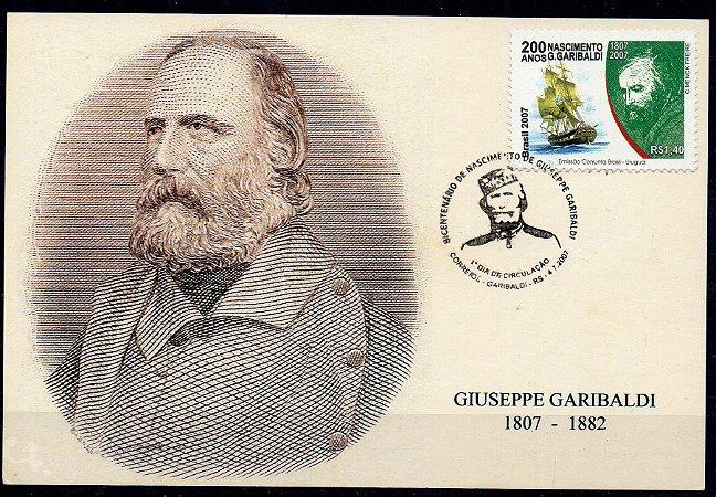 2007 200 anos do nascimento de G. Garibaldi máximo postal (novo)