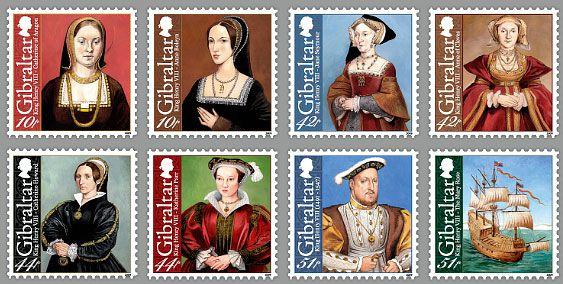 2009 Gibraltar - Henrique VIII e esposas - 500 anos do início de seu reinado