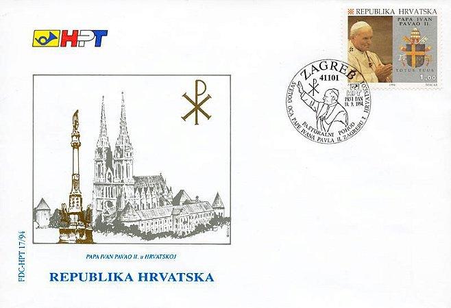 1994 Croácia - Papa João Paulo II - visita
