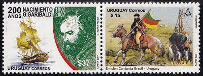 2007 Uruguai - G Garibaldi 200 anos - maçonaria (mint)