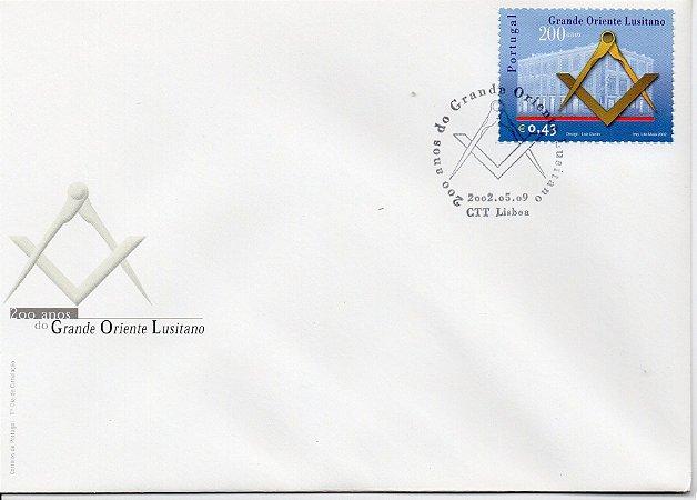 2009 Portugal - Grande Oriente Lusitano 200 anos - FDC - oficial
