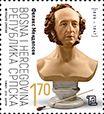 2019 Bósnia Hezergovina Felix Mendelssohn maçom e compositor