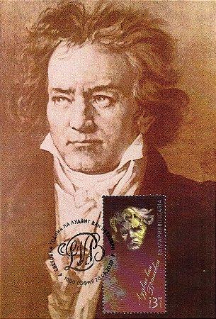 2020 Bulgária 250 anos de Beethoven - Máximo postal (mint)