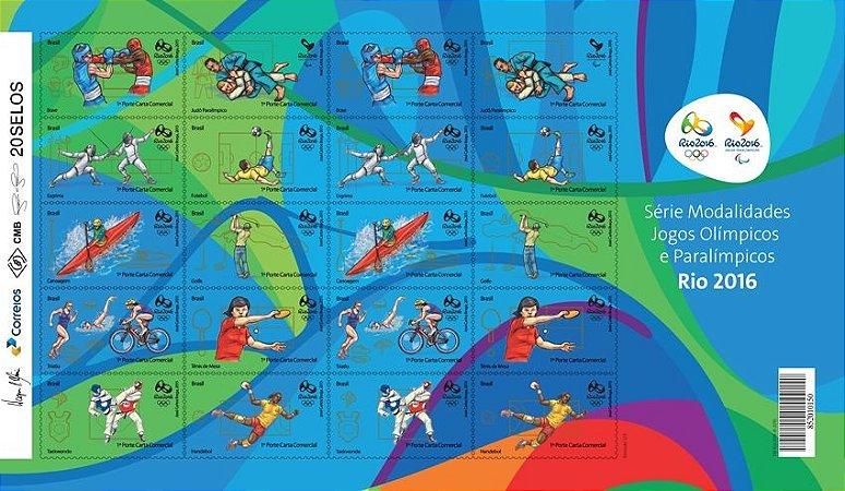 2015 Série Modalidades Jogos Olímpicos e Paralímpicos Rio 2016 -  Folha II (mint)