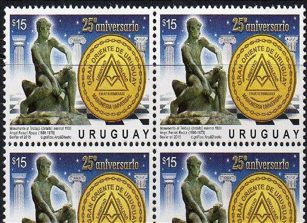 2015 URUGUAI QUADRA 25 ANOS DO GRANDE ORIENTE DO URUGUAI