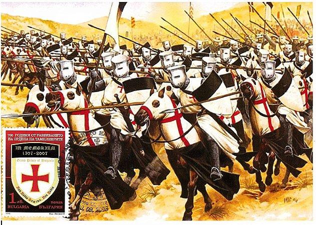 2008 Bulgária - 700 anos da batalha e derrota dos Templários Máximo Postal