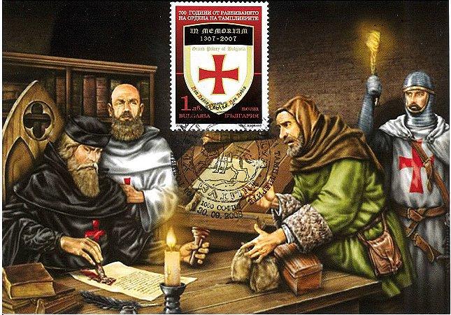 2008 Bulgária - 700 anos da  derrota dos Templários - reunoião Máximo Postal