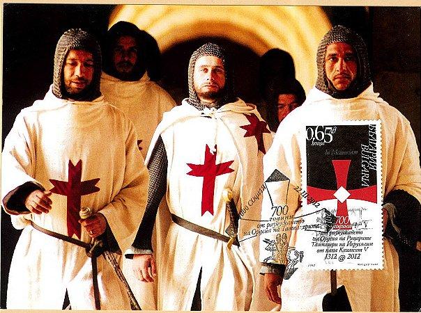 2012 Bulgária - 700 anos da Ordem dos Templários (máximo postal)