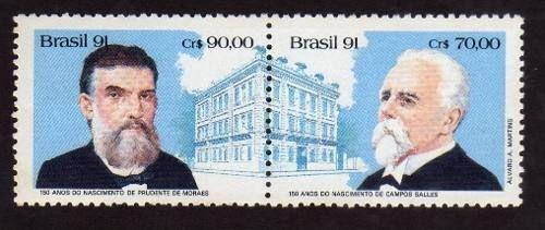 1991 SÉRIE 100 ANOS DE PRUDENTE DE MORAIS E CAMPOS SALES (MINT)