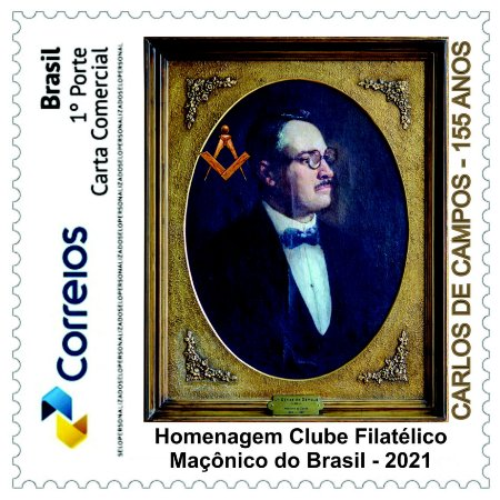 2021 Carlos de Campos - 155 anos - SP mint - novo
