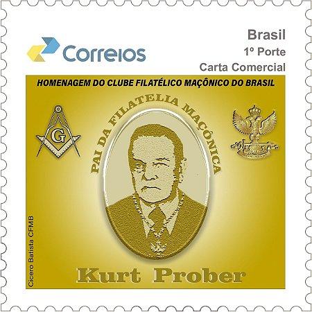 2019 Kurt Prober - Maçom e Patrono da Filatelia Maçônica do Brasil