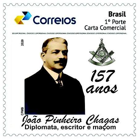 2020 João Pinheiro Machado, Diplomata, escritor e maçom 157 anos - SP mint