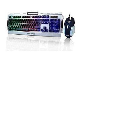 Kit Teclado E Mouse Gamer Com Led Acabamento Em Metal G3000