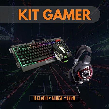 Kit Teclado e mouse JP-133 Headset Knup KP-470 USB